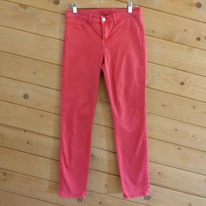 J Brand Skinny Leg bright Red Slim Jeans 27